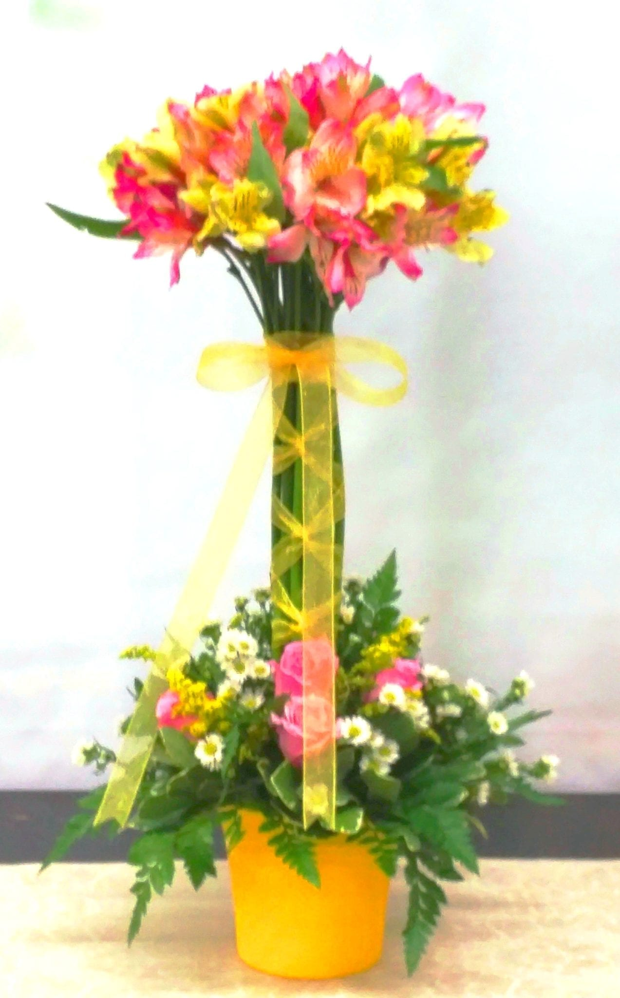 SAME DAY DELIVERY Ballet Lace Topiary in Yellow