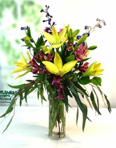 SAME DAY DELIVERY Contemporary Yellow Lily