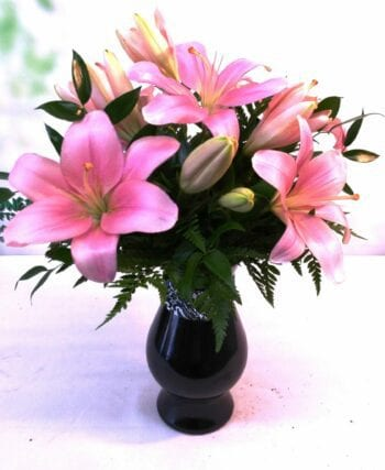 SAME DAY DELIVERY Damask Lilies Pink