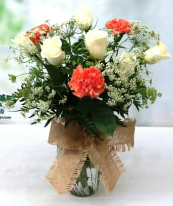 SAME DAY DELIVERY Garden Lace Bouquet