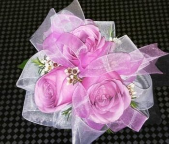 Lavender Rose with Double Ribbon Corsage (CB-712)
