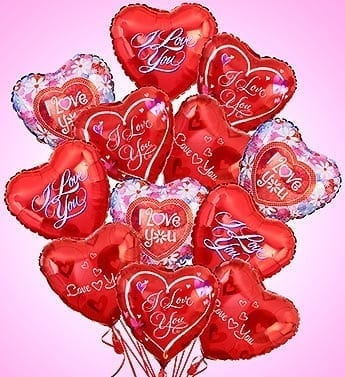 Over The Top In Love Balloon Bouquet