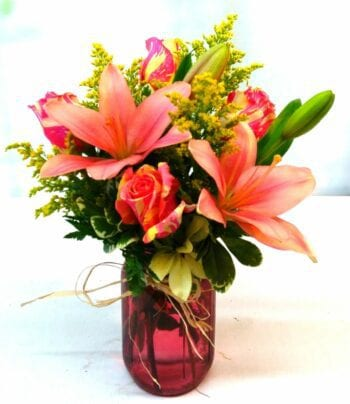 SAME DAY DELIVERY Pink Garden Bouquet