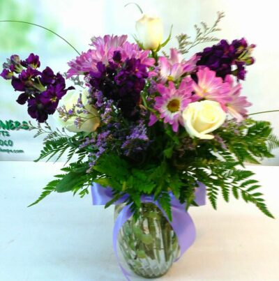 SAME DAY DELIVERY Purple Garden Bouquet