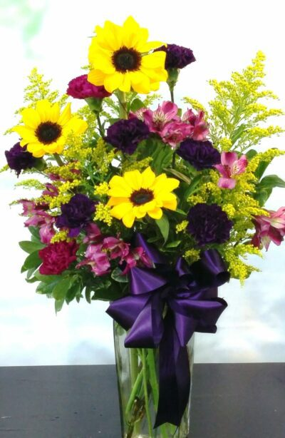 NEXT DAY DELIVERY Purple Sunshine Bouquet (V-1089)