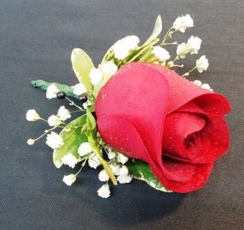 Red Rose Boutonniere (CB-379-1)