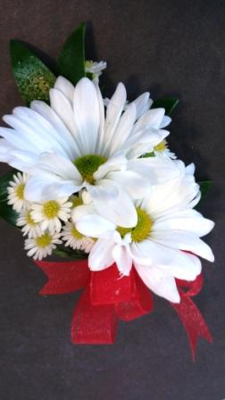 White Daisy Pin On Corsage (CB-741)