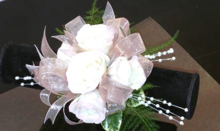 Spray Rose Corsage with Pearls