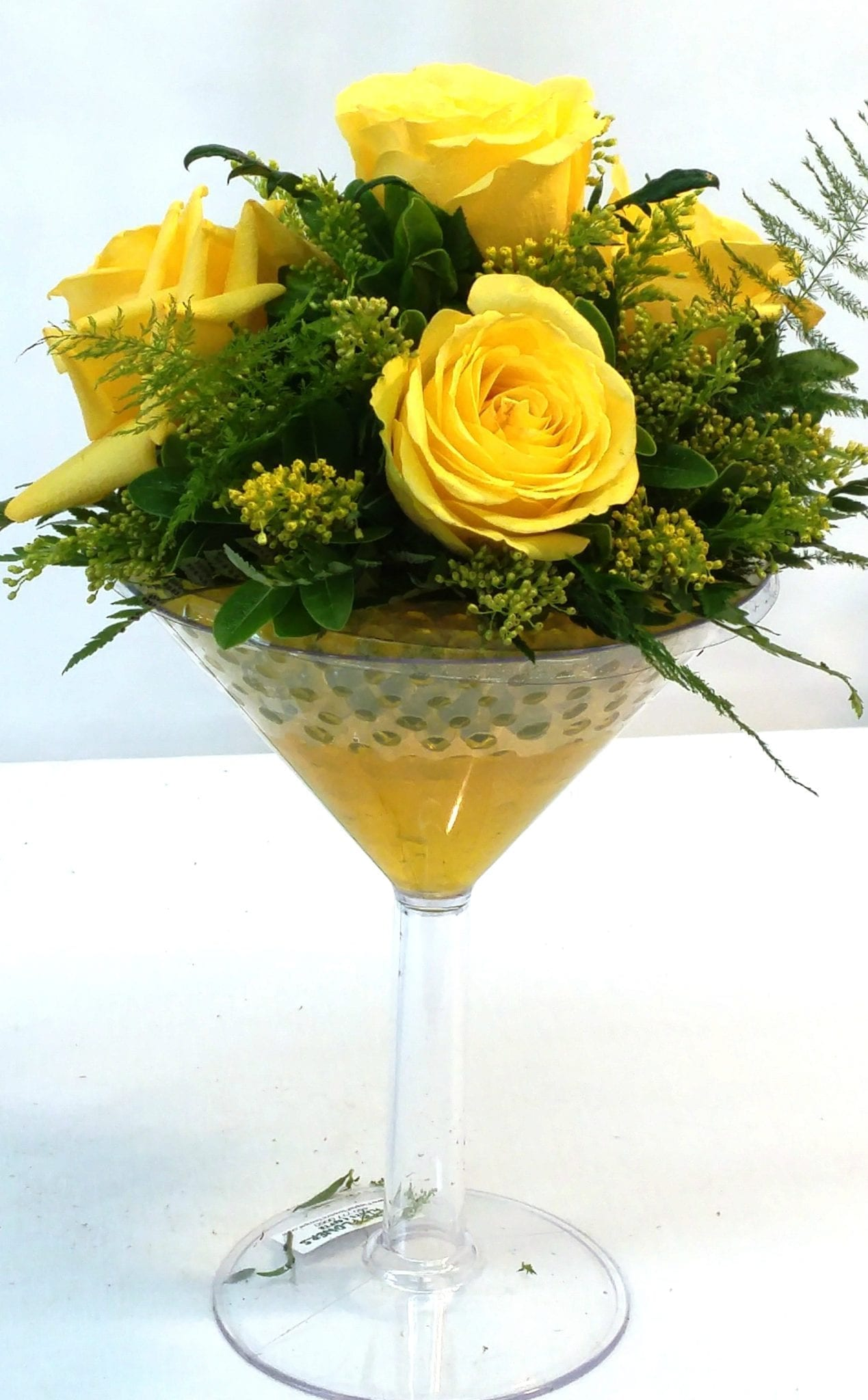 SAME DAY DELIVERY Yellow Love Martini (M-2001)