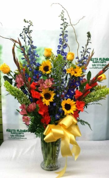 SAME DAY DELIVERY Beautiful Blessings Bright Vase Arrangement