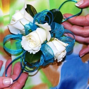 Rose Corsage with Wire Detail (CB-706)
