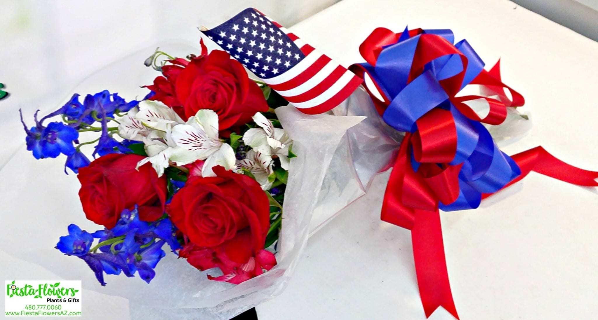 patriotic rose wrap