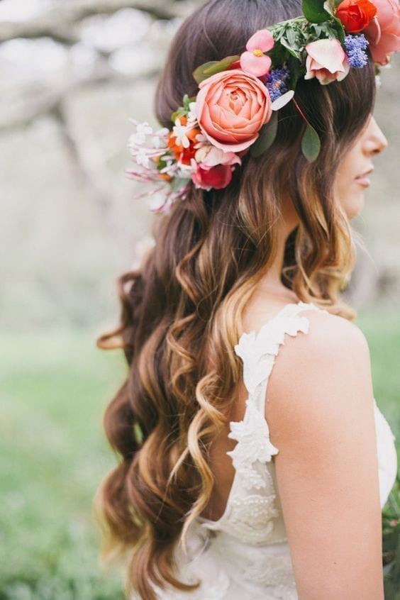 homecoming floral wreath for your hair